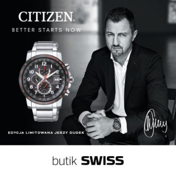 Limitowany model zegarka CITIZEN – sygnowany przez Jerzego Dudka w butiku SWISS