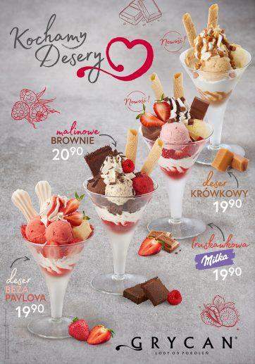 GRYCAN – Nowe desery lodowe!