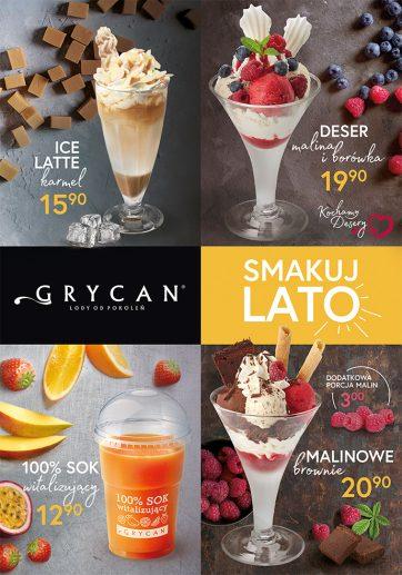 Smakuj lato w lodziarniach Grycan!
