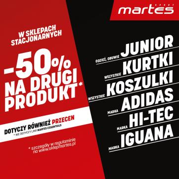 -50% NA DRUGI TAŃSZY PRODUKT MARKI ADIDAS, IGUANA, HI-TEC
