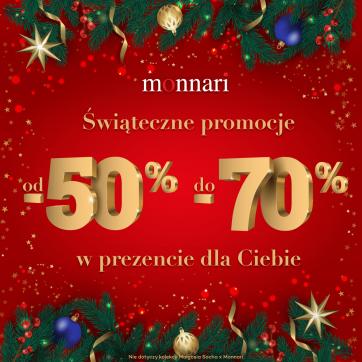 Świąteczne promocje od -50% do -70% w prezencie dla Ciebie!