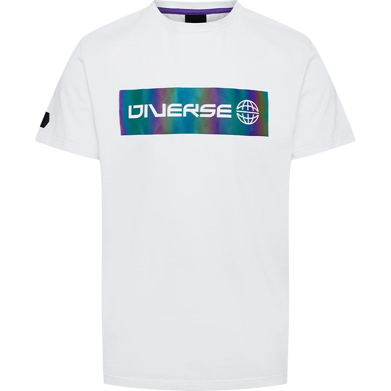 DIVERSE - T-shirt z holograficznym logo