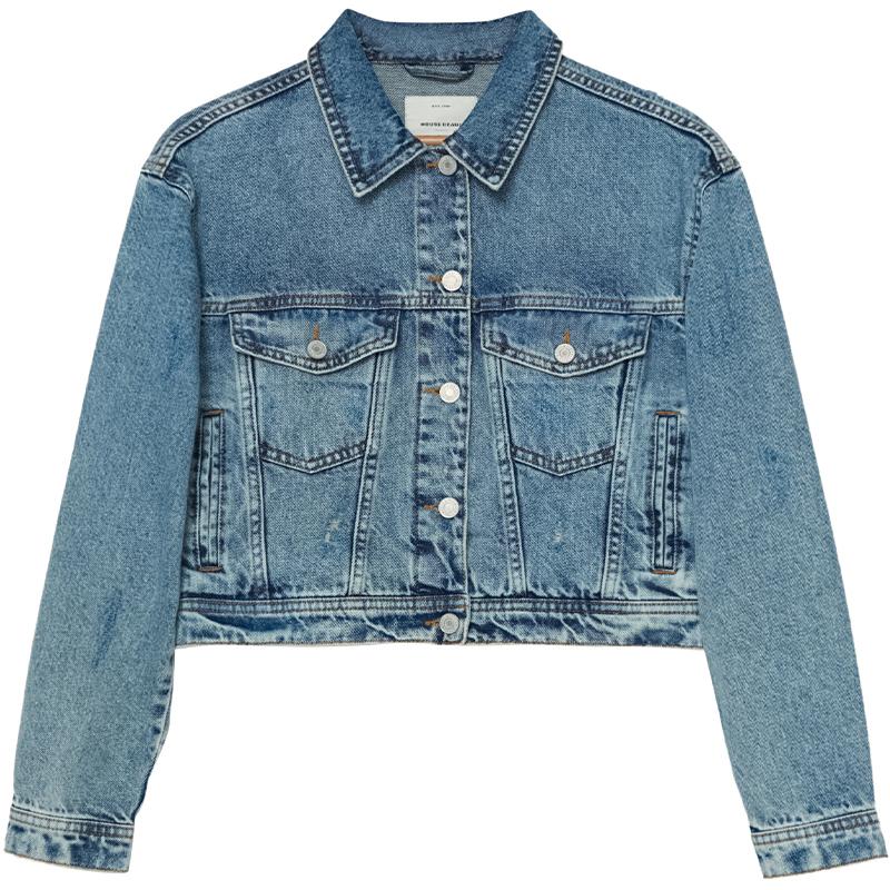 kurtka jeansowa o krótszym kroju