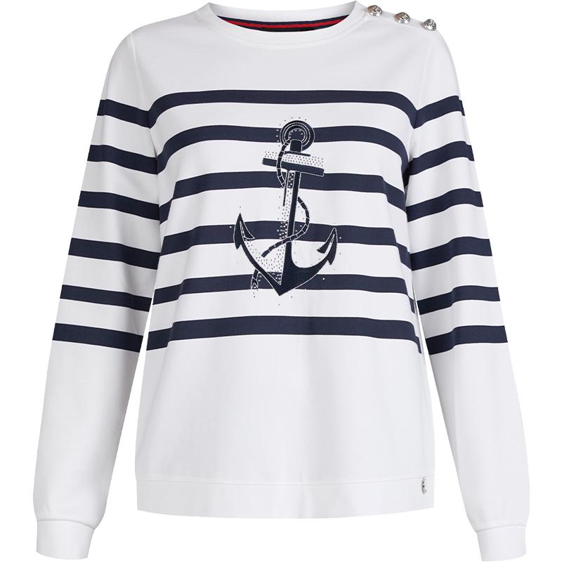 MONNARI - sweter z motywem kotwicy
